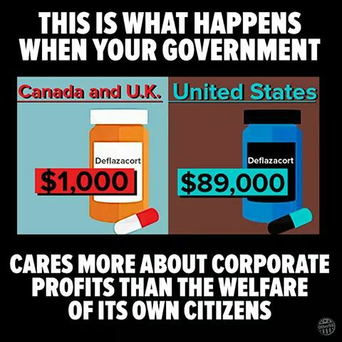 this is what happens when your government cares more about corporate profits than the welfare of its own citizens