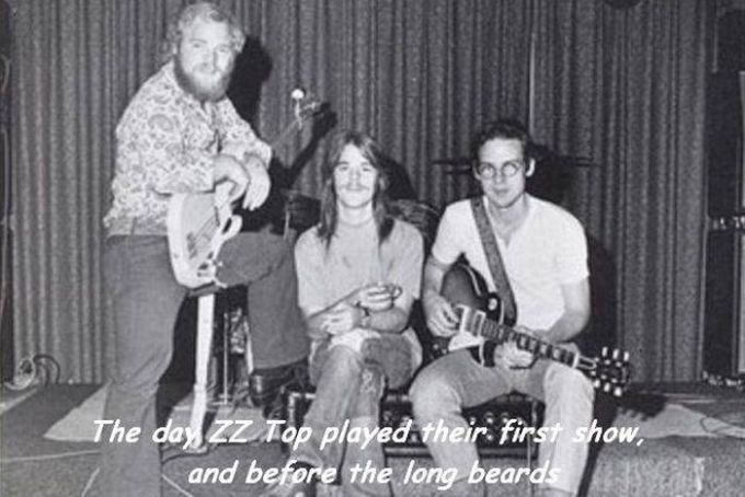 the day zz top played their first show, and before the long beards