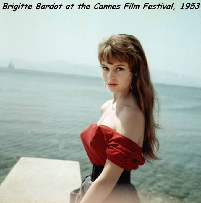 brigitte bardot at the cannes film festival 1953