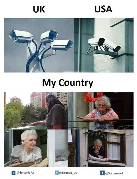 surveillance in various countries