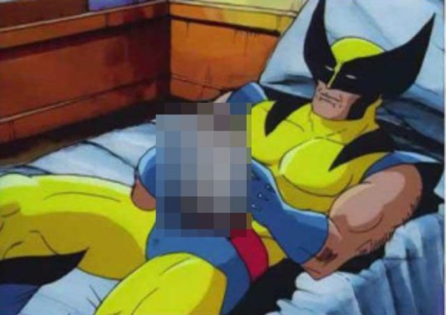 unnecessary censorship, wolverine cartoon in bed