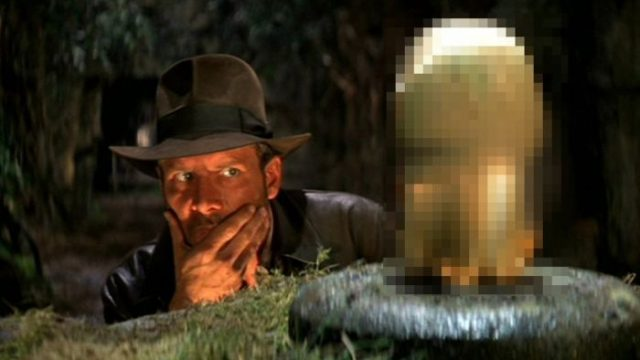 unnecessary censorship, indiana jones eyeing the prize