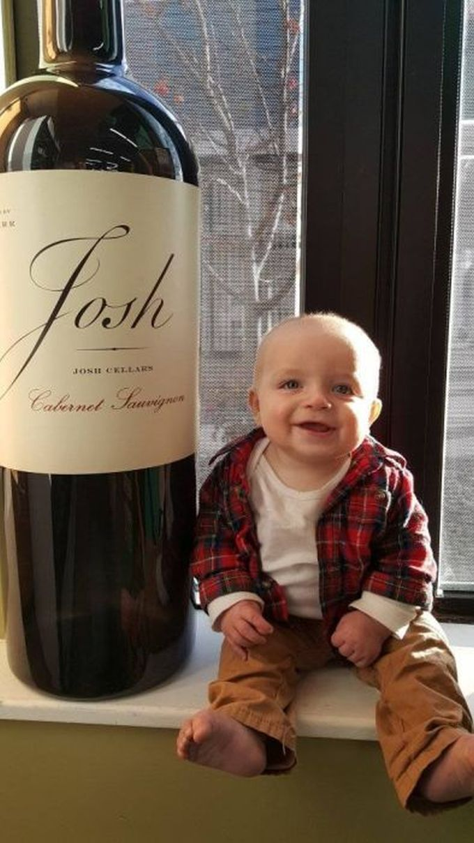 josh giant bottle of wine