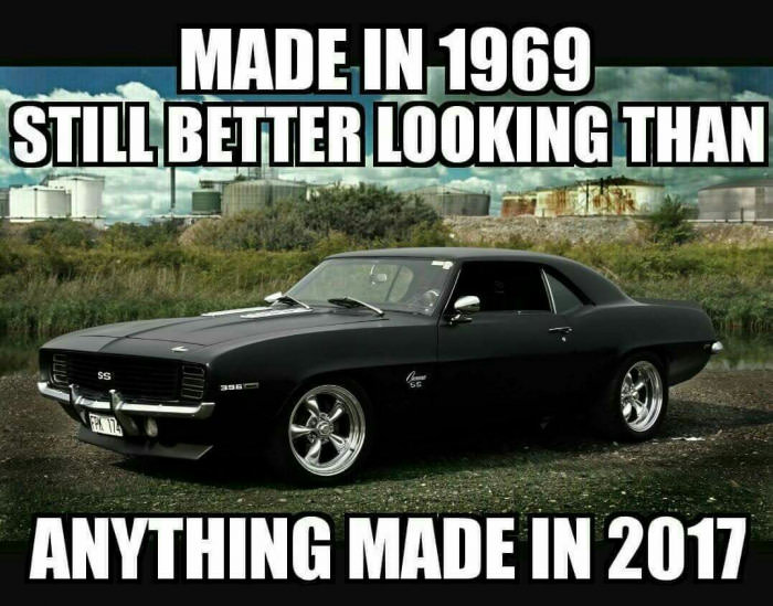 made in 1969, still better looking than anything made in 2017