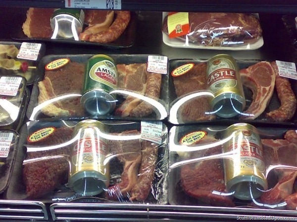 seen in south africa, beer and steak wrap