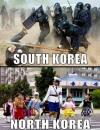 maybe the images you choose are somewhat important, south korea, north korea,