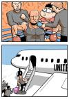 you need to be prepared to fly united airlines, comic, boxing match, boarding plane