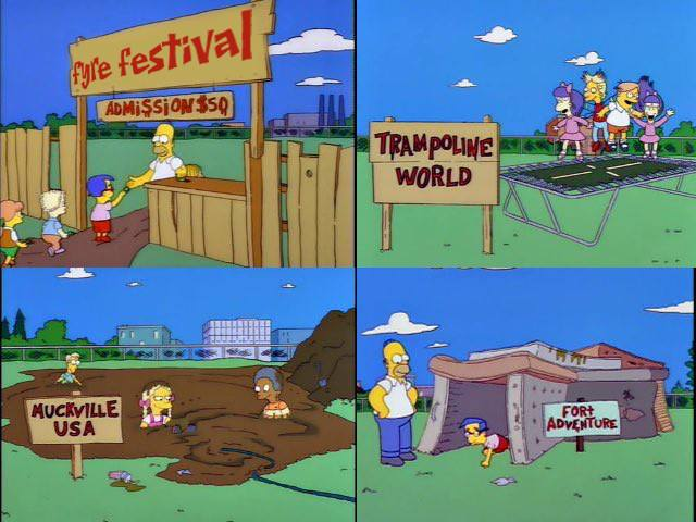 fyre festival on the simpsons