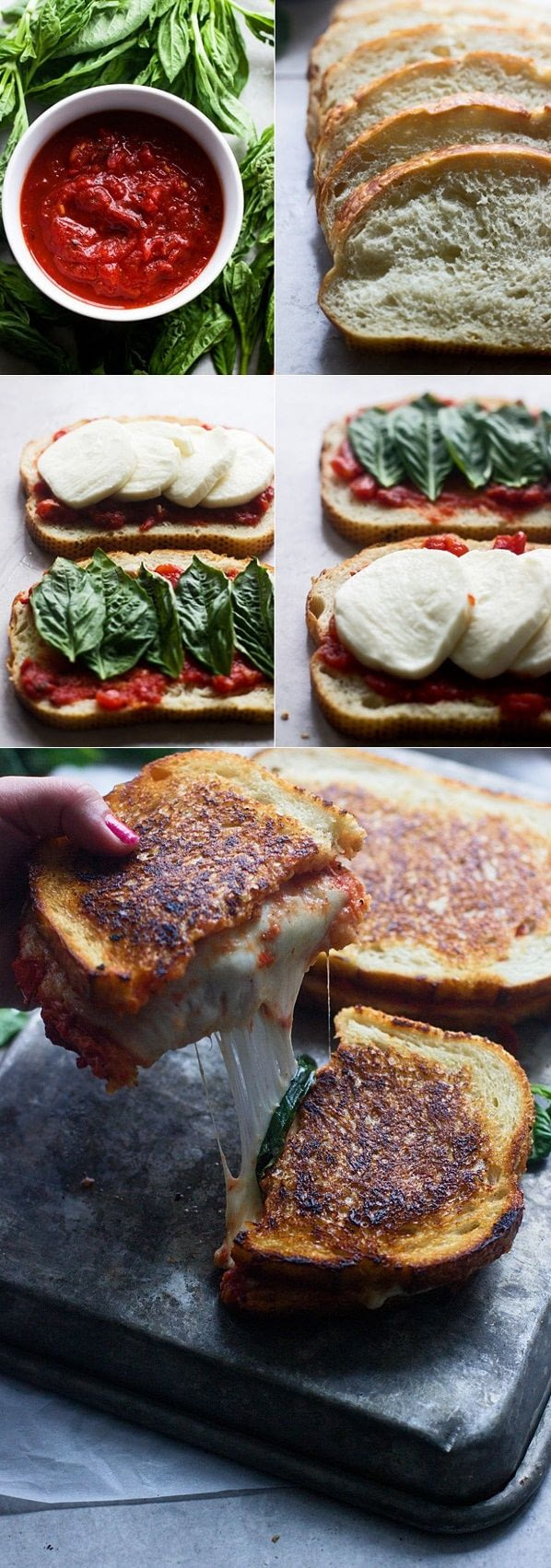 food porn, garlic bread grilled cheese