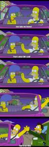 just take me home, that's what she said!, you're on fire, the simpsons, homer high fives lenny from car