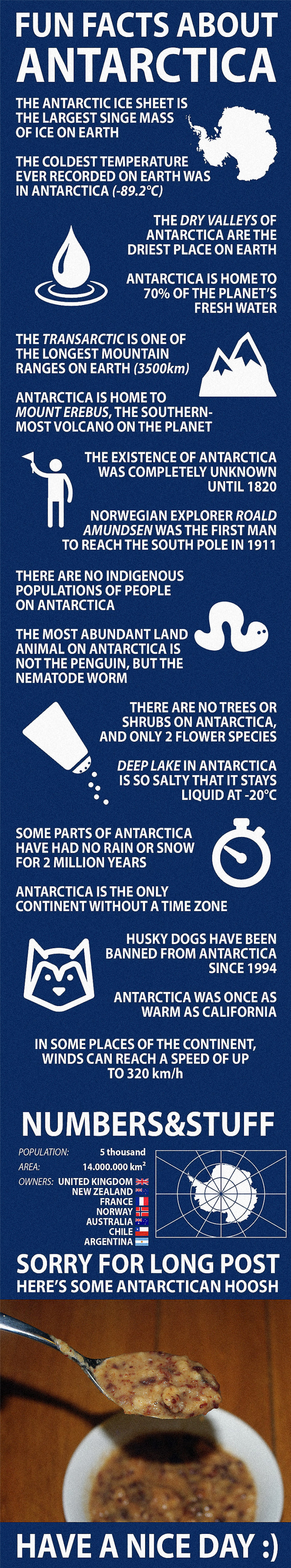 fun facts about antartica, infographic