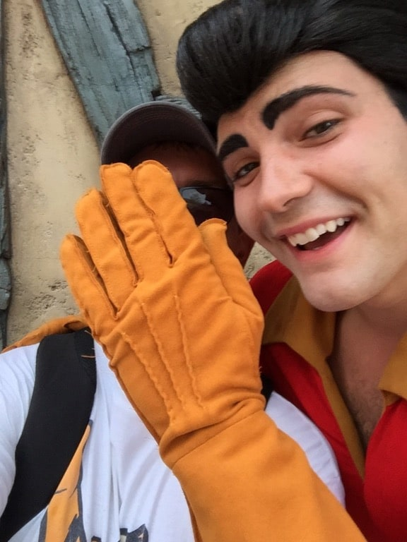 take a selfie with gaston at disney world and you may not be in it