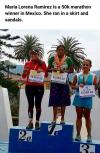 maria lorena retirez is a 50k marathon winner in mexico, she ran in a skirt and sandals