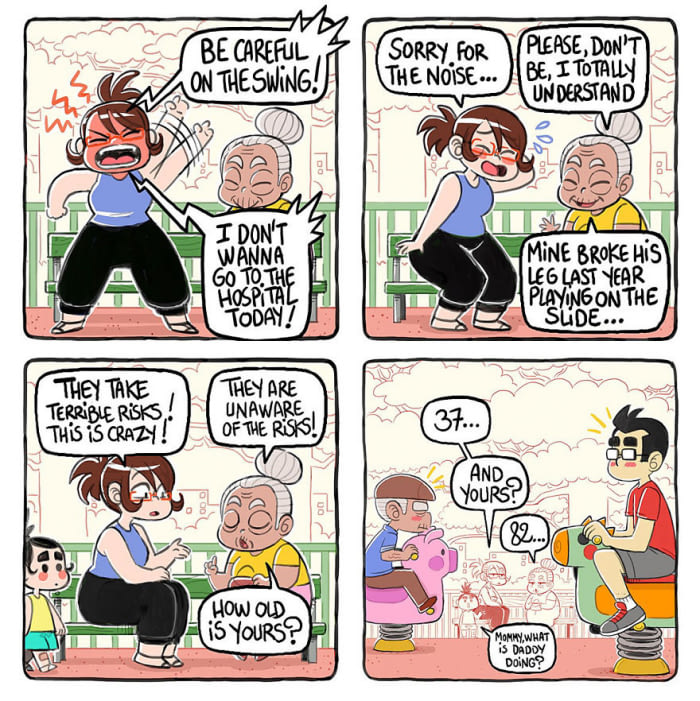 relatable comics illustrate the universal parenting struggles