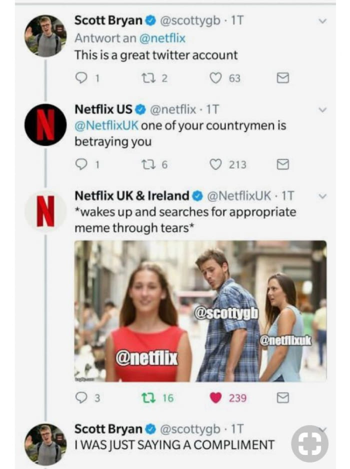 netflix gets the meme on twitter