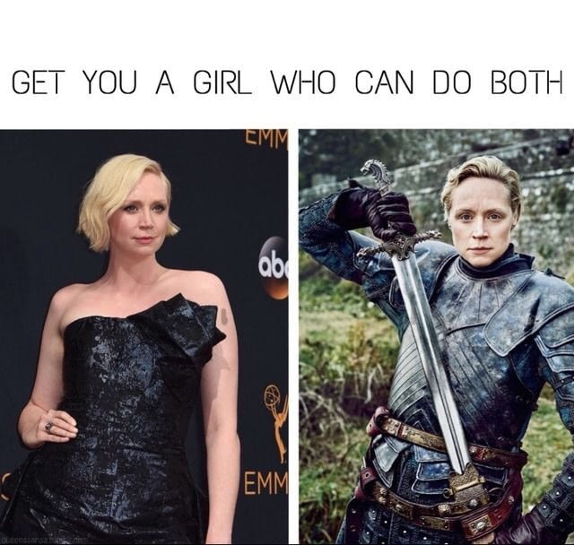 get a girl who can do both, dress up and suit up