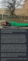 arnold schwarzenegger posted a photo of himself sleeping on the street under his famous bronze statue, how times have changed