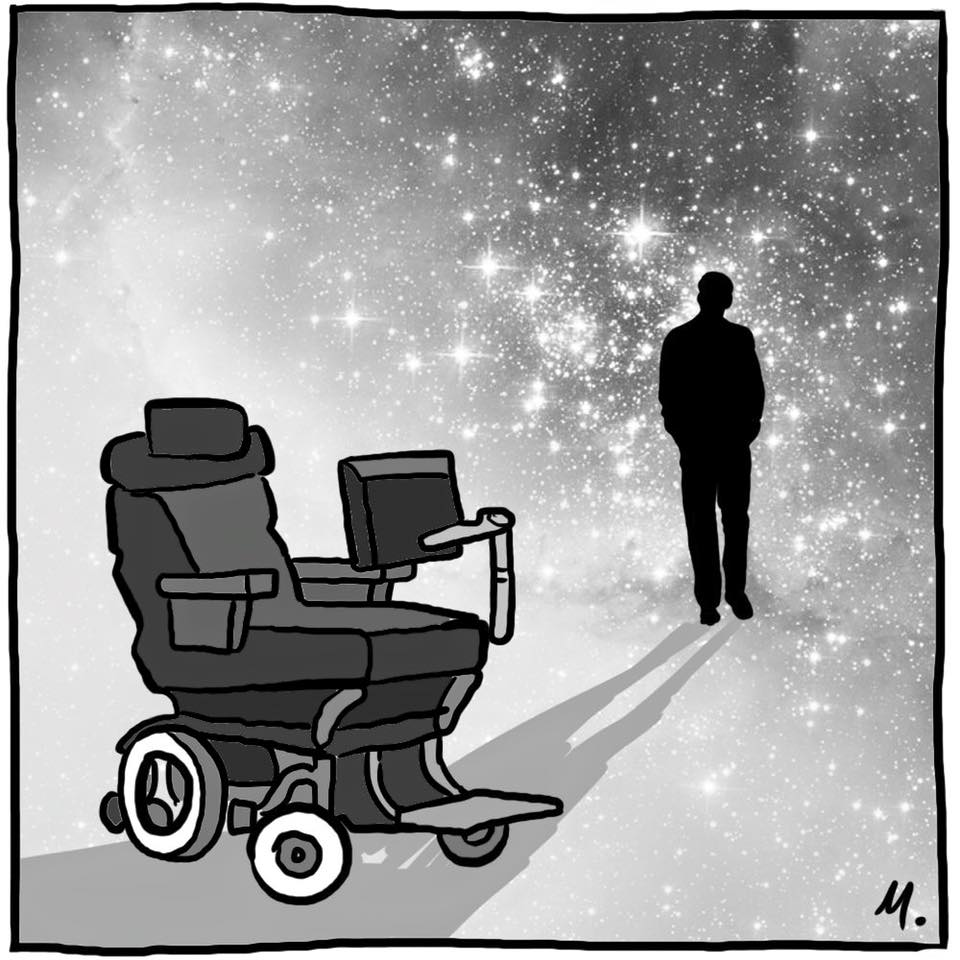 rip stephen hawking, beautiful piece from melbourne artist mitchell toy