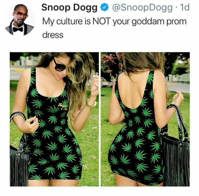 my culture is not your goddam prom dress, snoop dogg