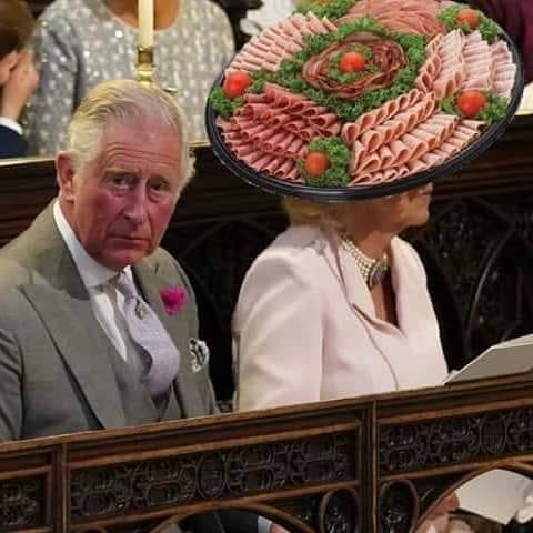 best hat at the royal wedding, sandwich meat plate