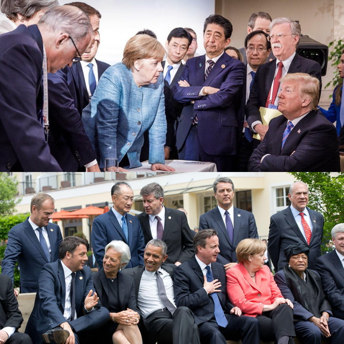 what a difference, g7 then and now, obama, trump