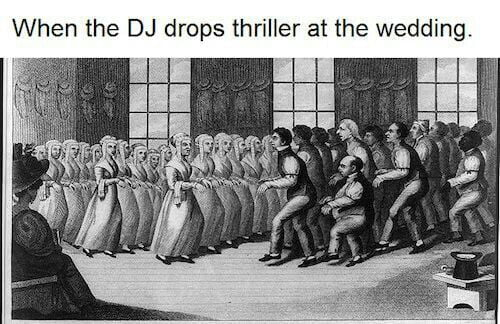 when the dj drops thriller at a wedding