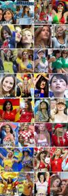 soccer female fans from around the world