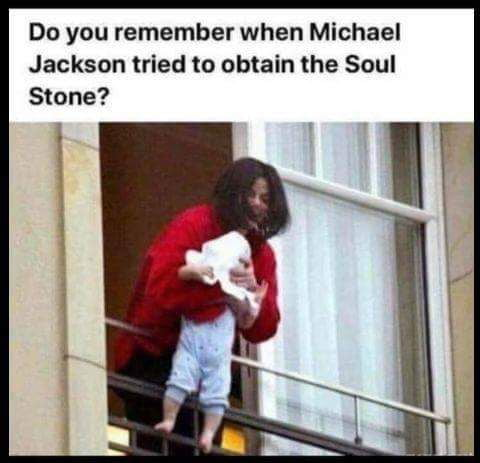 do you remember when michael jackson tried to obtain the soul stone?