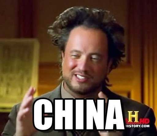 china, ancient aliens meme