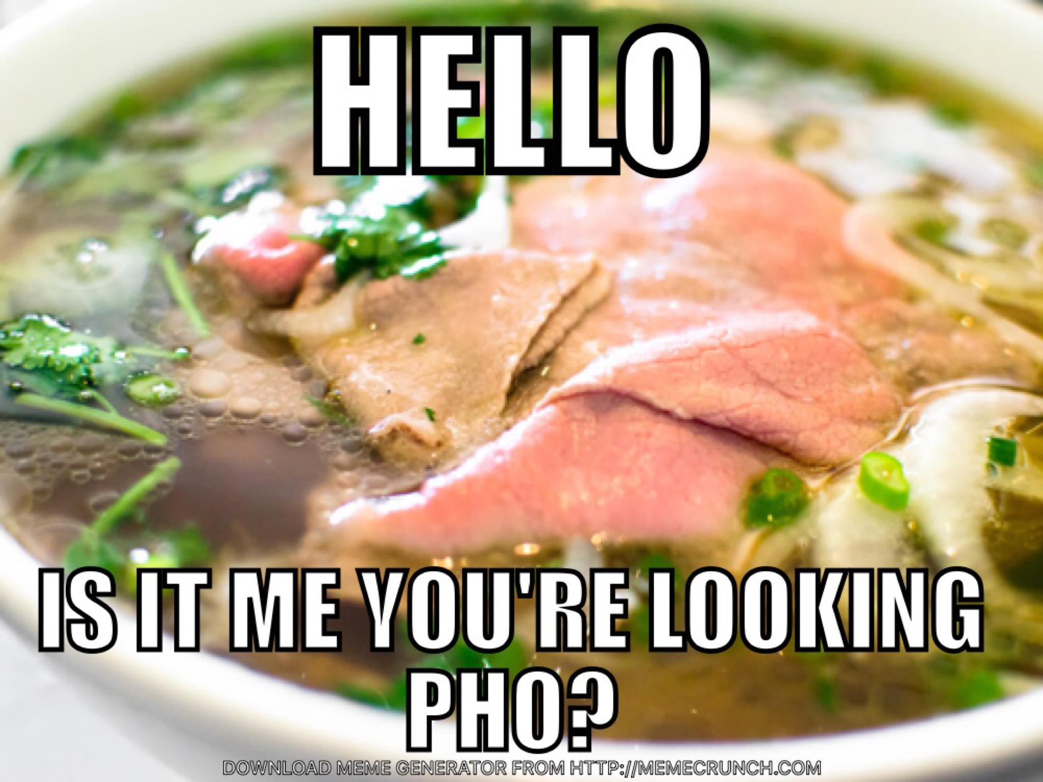 hello, is it me you're looking pho, meme