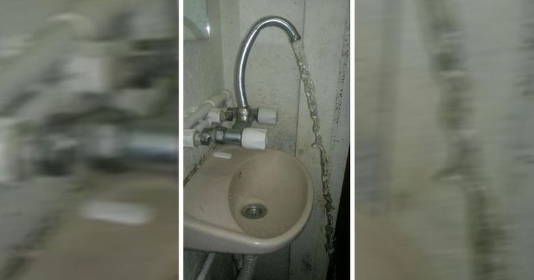 when you choose the wrong faucet and plumber for your sink, worst renovations ever