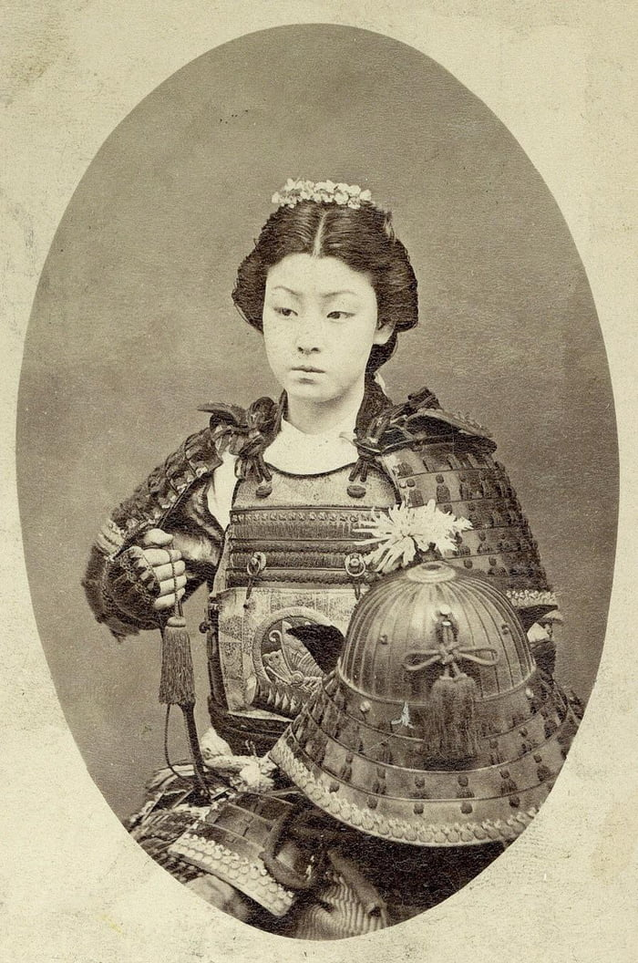 old picture of a female samurai