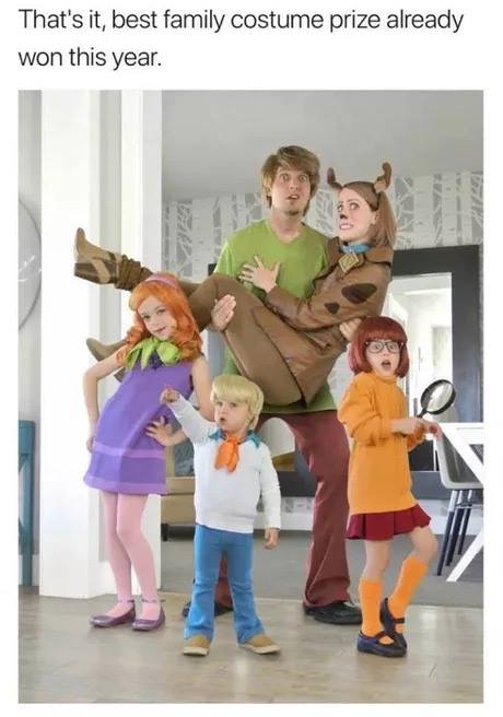 that's it, best family costume prize already won this year, halloween