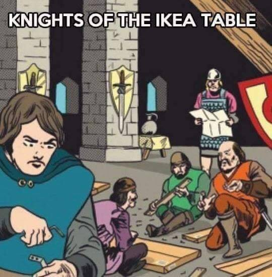 knights of the ikea table
