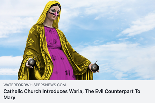 catholic church introduces aria, the evil counterpart to mary