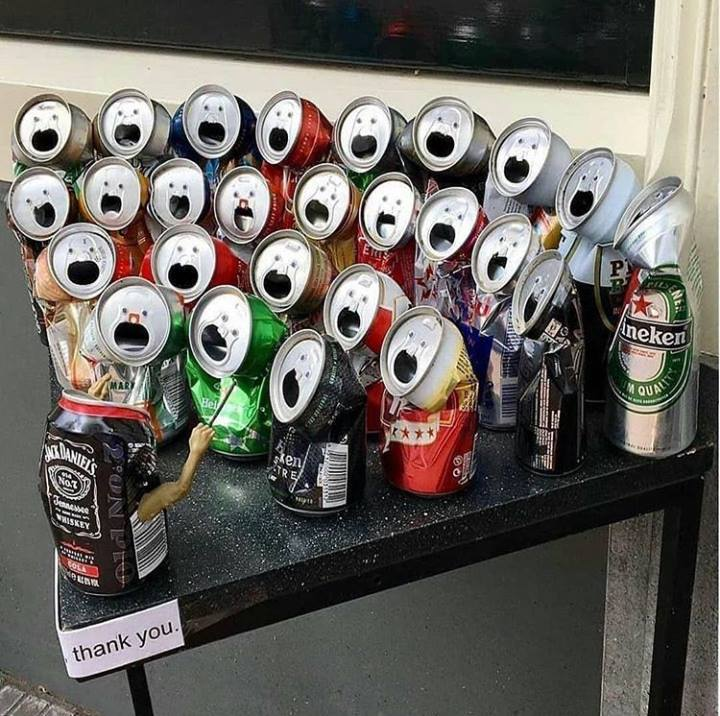 cans in the choir, wtf