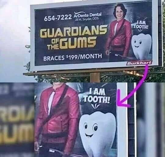 guardians of the gums, i am tooth, guardians of the galaxy rip off