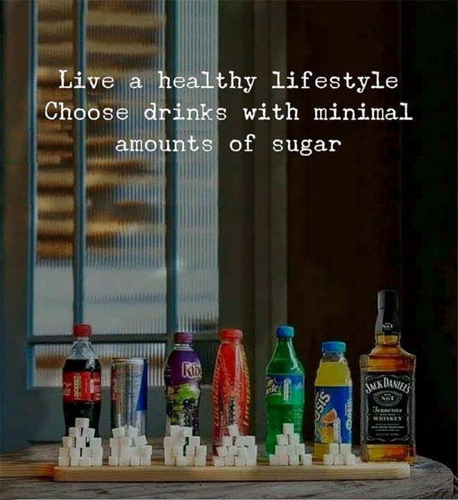 live a health lifestyle, choose drinks with a minimal amount of sugar