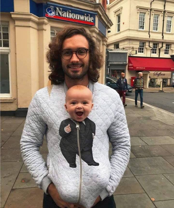 the perfect sweatshirt for baby daddies