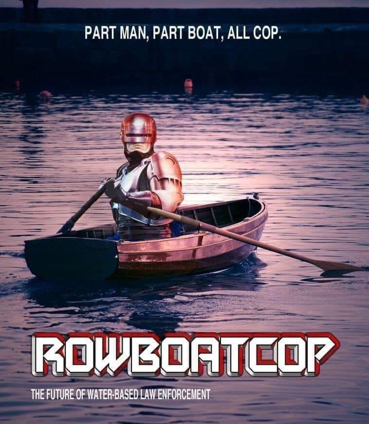 rowboatcop, part man, part boat, all cop