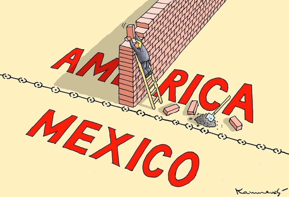 the wall between america