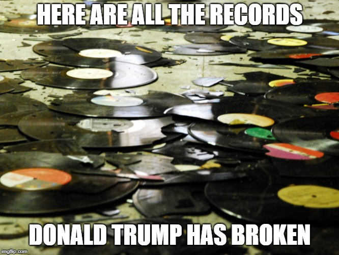 here are all the records donald trump has broken