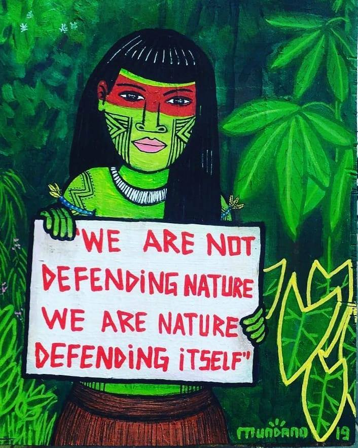 we are not defending nature, we are nature defending itself
