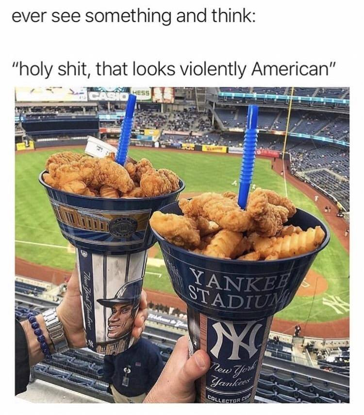 ever see something and think, oh shit that looks violently american