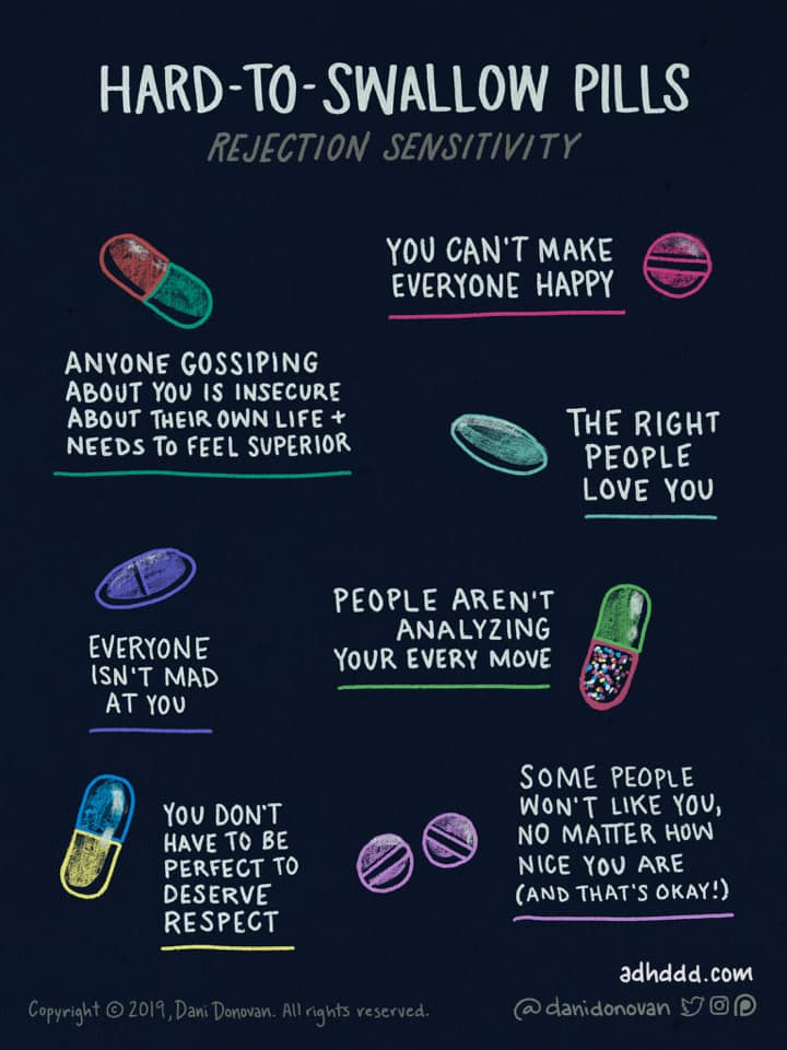 hard to swallow pills, rejection sensitivity, you can't make everyone happy