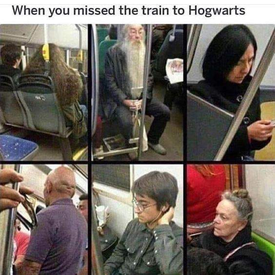 when you missed the train to hogwarts, harry potter and the subway ride