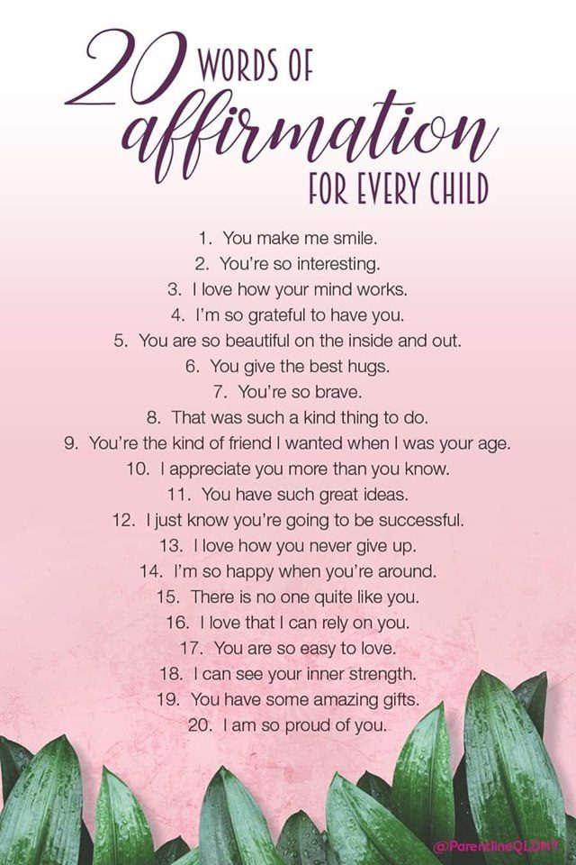 20 words of affirmation for every child