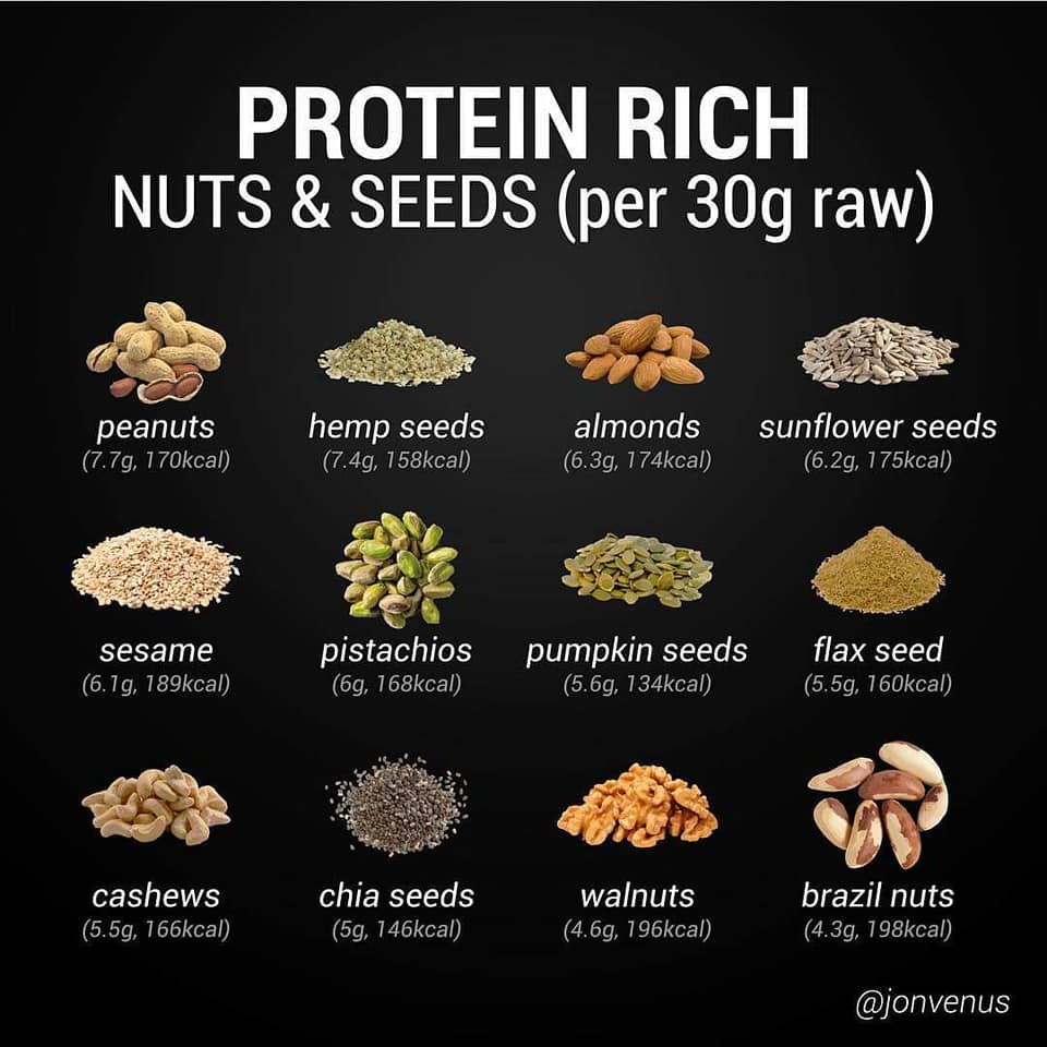 protein rich nuts and seeds, peanuts, hemp, almonds, sunflower, sesame, pistachios, pumpkin, flax, cashews, chia, walnuts, nutrition, food