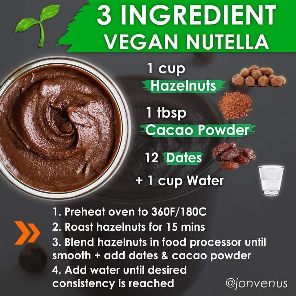 3 ingredient vegan nutella, 1 cup hazelnuts, 1 tbsp cacao powder, 12 pitted dates, 1 cup water, jonvenus