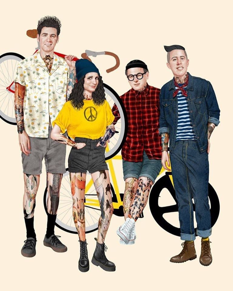 hipster seinfeld fan art